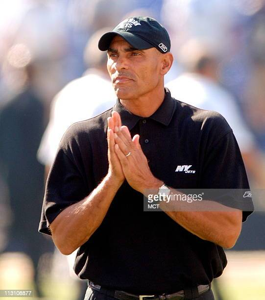 The New York Jets' head coach Herm Edwards is shown before a game against the Ravens in Baltimore Maryland on Sunday October 2 2005