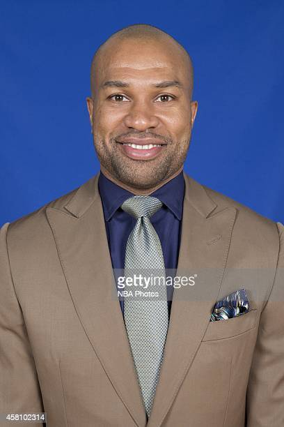 The New York Knicks introduce Derek Fisher as the franchise's head coach at a press conference on June 10 2014 at the MSG Training Center in...