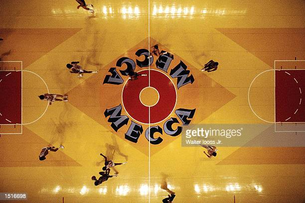The New York Knicks move the ball upcourt against the Milwaukee Bucks during the NBA game at the Mecca Arena in Milwaukee Wisconsin NOTE TO USER User...