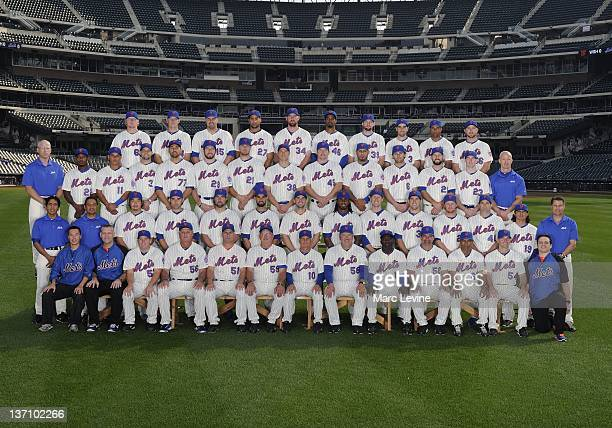The New York Mets pose for a team photo on September 13 2011 at Citi Field in New York New York
