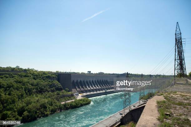 The New York Power Authority Robert Moses Niagara Hydroelectric Power Station stands in Lewiston, New York, as seen from across the Niagara River in...