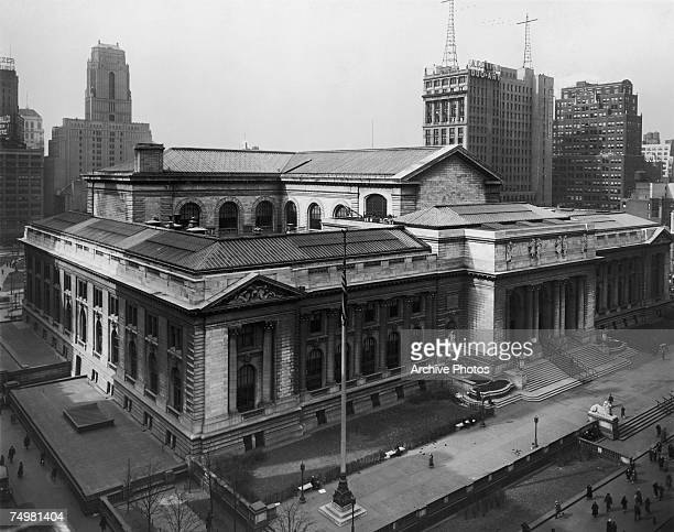 The New York Public Library in New York City circa 1925