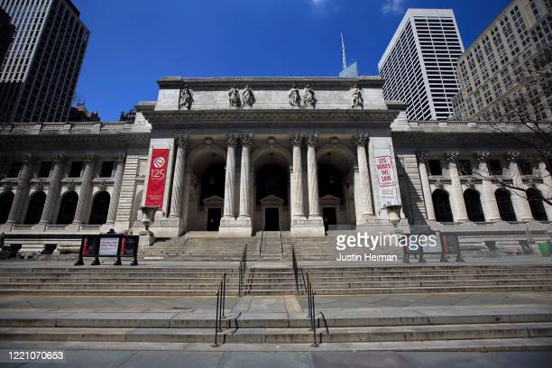 The New York Public Library is closed due to the spread of the coronavirus pandemic on April 25, 2020 in New York City. COVID-19 has spread to most...