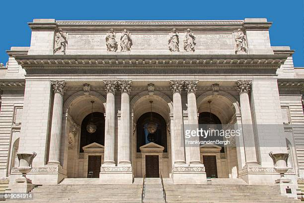 the new york public library - new york public library stock pictures, royalty-free photos & images