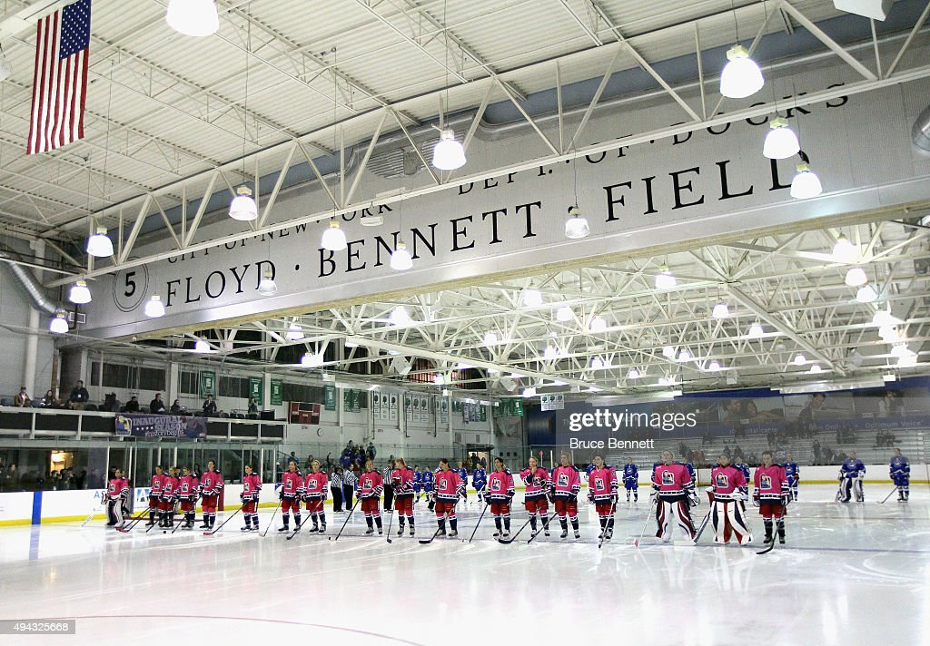 The New York Riveters Of The National Womens Hockey League Prepare