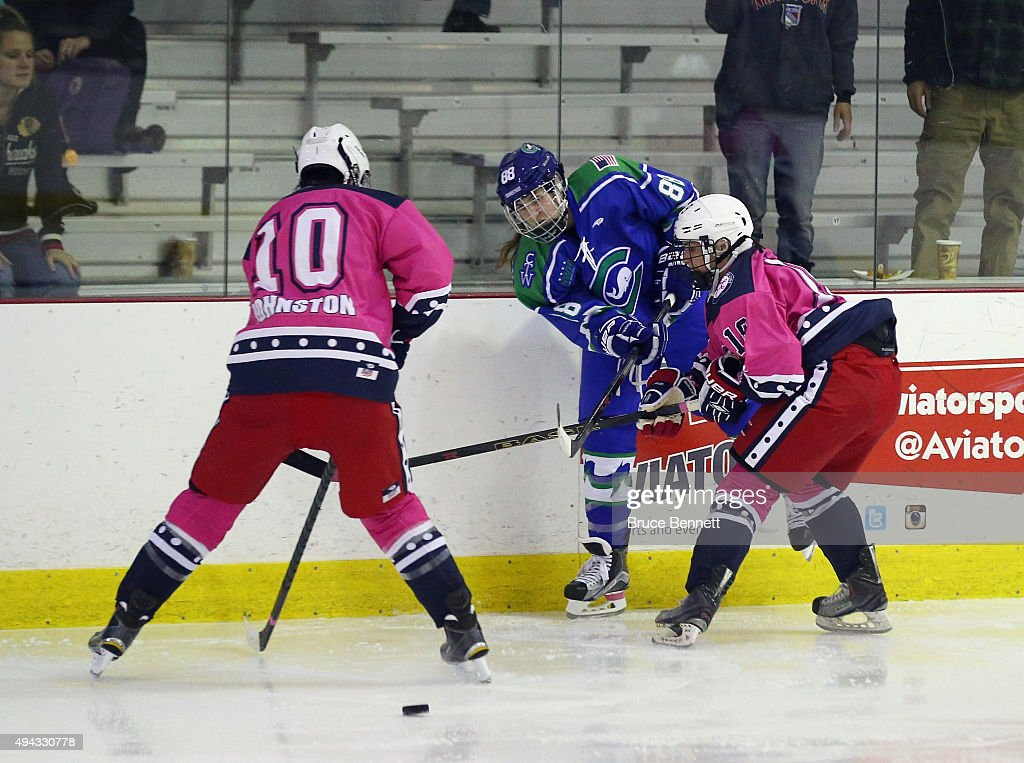The New York Riveters Of The National Womens Hockey League Skate