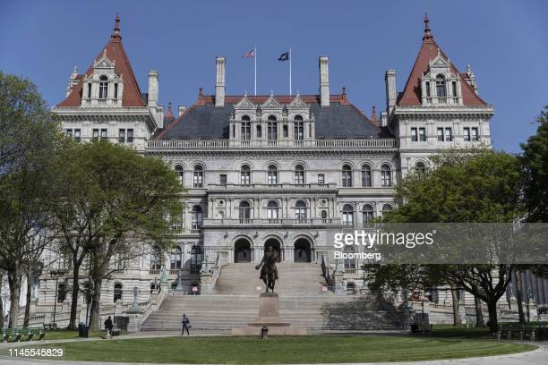 The New York State Capitol building stands in Albany New York US on Wednesday May 22 2019 New York State is one step closer to being able to hand...