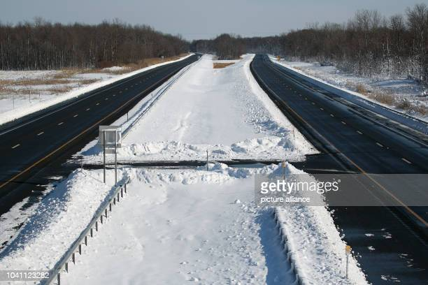 The New York State Thruway was closed for a 130-mile stretch near Buffalo, New York, USA on Wednesday, November 19, 2014. Up to six feet of snow fell...