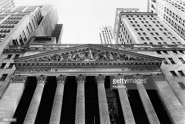 The New York Stock Exchange on Broad Street and Wall Street in New York