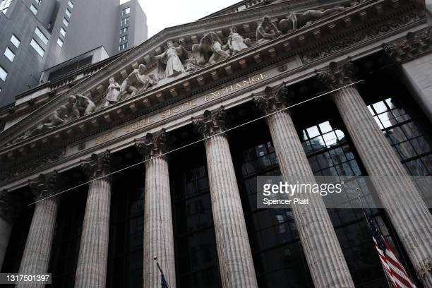 The New York Stock Exchange stands in lower Manhattan after global stocks fell as concerns mount that rising inflation will prompt central banks to...