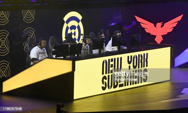 The New York Subliners compete against the London Royal Ravens during day two of the Call of Duty League launch weekend at The Armory on January 25,...