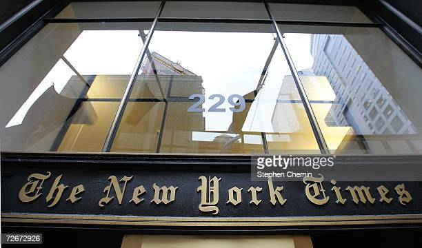 The New York Times building is seen on November 29, 2006 in New York City. New York Times Co. Shares showed the highest gains in five years after it...