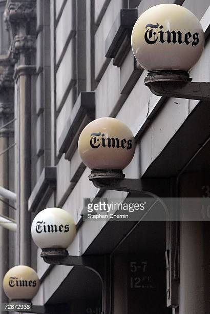 The New York Times building is seen on November 29 2006 in New York City New York Times Co shares showed the highest gains in five years after it was...