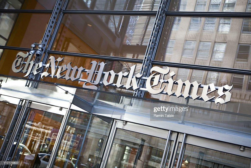 New York Times' Quarterly Profits Falls 58 Percent : News Photo