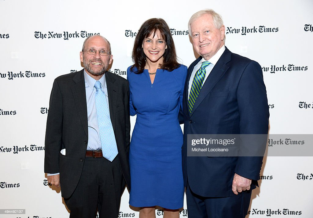 The New York Times Los Angeles Bureau Chief Adam Nagourney and Legacy Health Pediatric Neurosurgeon, G.O.P. Senate candidate Monica Wehby and Castle Connolly Medical Ltd. President and CEO John J. Connolly attend The New York Times Health For Tomorrow Conference at Mission Bay Conference Center at UCSF on May 29, 2014 in San Francisco, California.