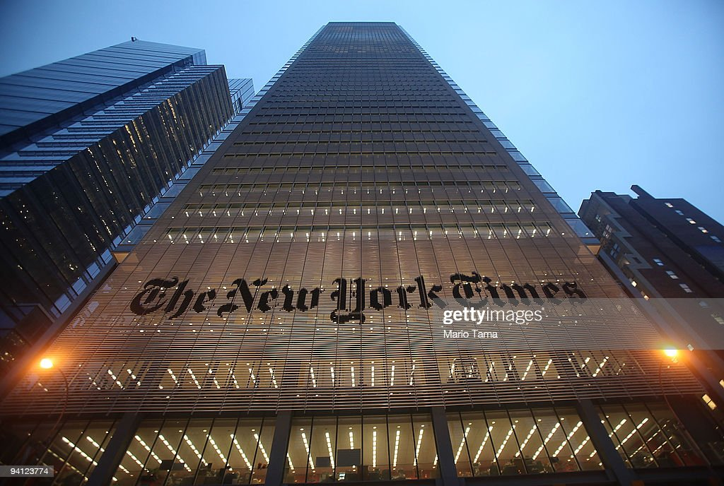 New York Times Seeks Buyouts Before Imposing Layoffs : News Photo