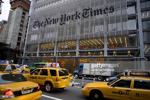 The New York Times newspaper being delivered to newsstands and all night deli's starting at 5am on May, 2008 in New York City. The goal is that all...