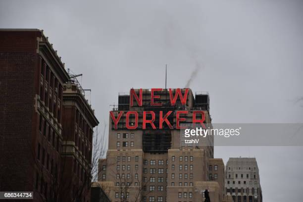 the new yorker building in new york city, usa - new yorker building stock photos and pictures