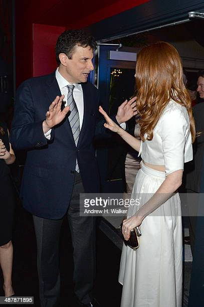 The New Yorker Editor David Remnick and actress Darby Stanchfield attend the White House Correspondents' Dinner Weekend PreParty hosted by The New...