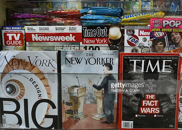 The New Yorker magazine's October 15 edition is diplayed in an Upper East Side newstand in New York on October 9 2012 The New Yorker has created a...