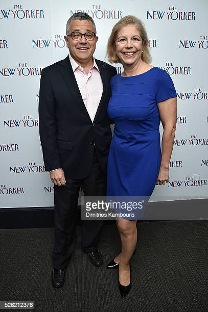 The New Yorker Staff Writer and CNN Legal Analyst Jeffrey Toobin and Amy McIntosh attend The New Yorker's annual party kicking off The White House...