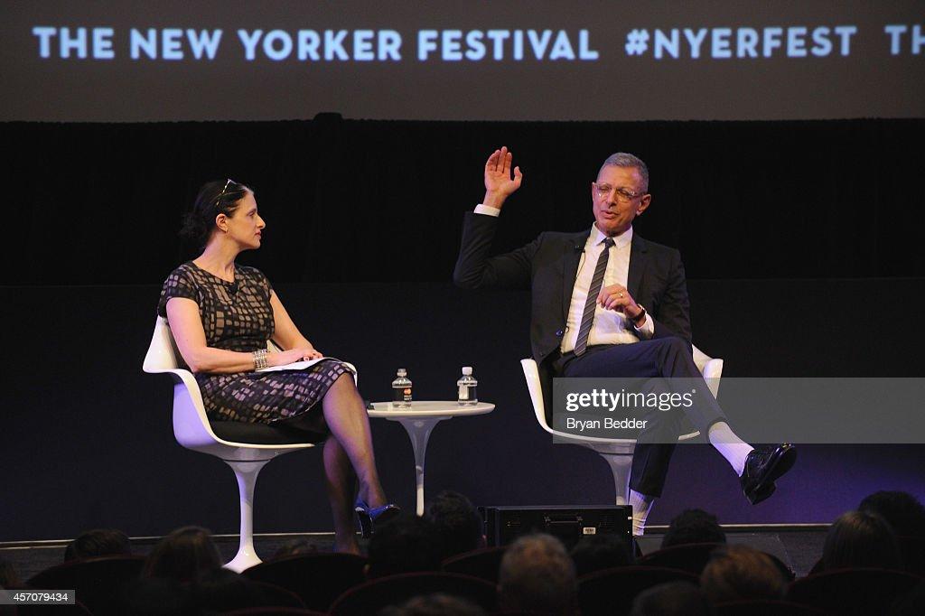 The New Yorker Festival 2014 - Jeff Goldblum In Conversation With Larissa MacFarquhar : News Photo