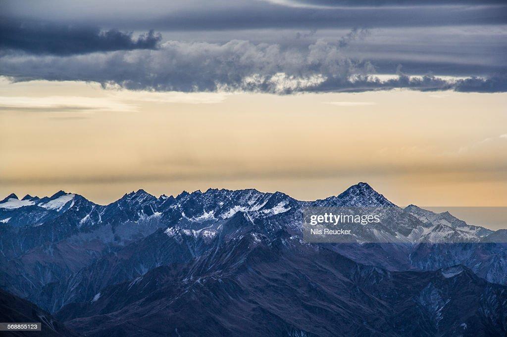 The New Zealand Alps : Stock Photo