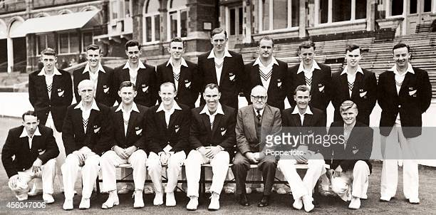 The New Zealand cricket team which toured England in 1958 The fiveTest series produced one drawn match and four wins for England Back row left to...