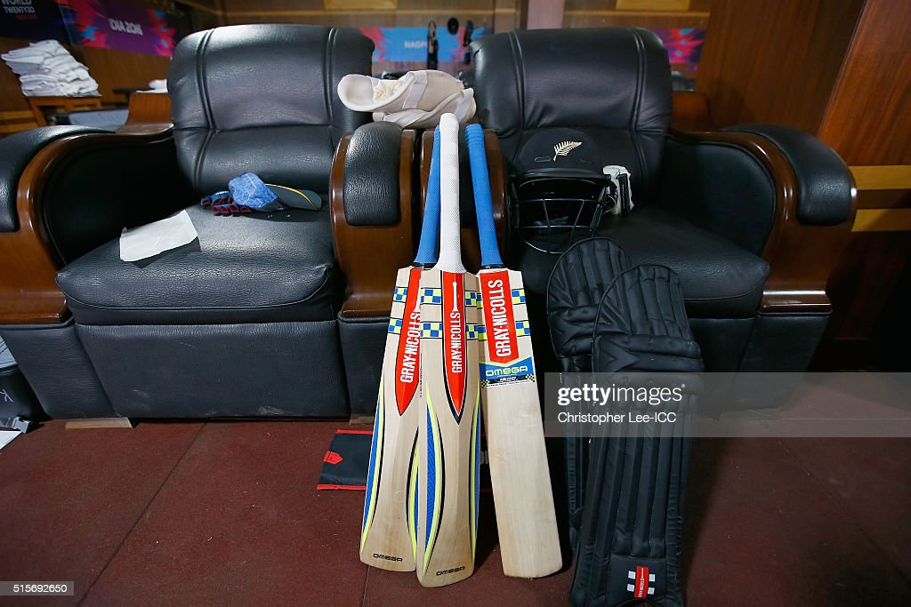 The New Zealand dressing room befoe kick off during the ICC World Twenty20 India 2016 Group 2 match between New Zealand and India at the Vidarbha Cricket Association Stadium on March 15, 2016 in Nagpur, India.