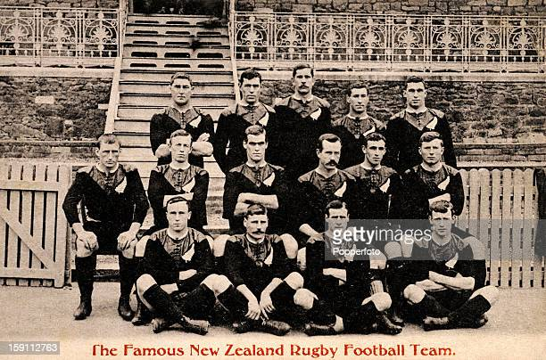 The New Zealand rugby football team during their tour of Great Britain circa 1905