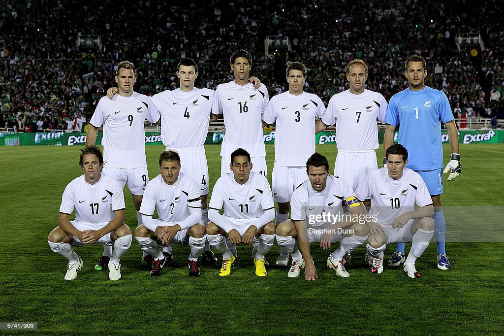 The New Zealand starting team pose for a picture against Mexico in an international friendly at the Rose Bowl on March 3, 2010 in Pasadena, California. Mexico won 2-0.