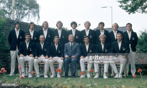 The New Zealand touring team in England circa June 1973 Back row left to right John Parker Dayle Hadlee Robert Anderson Hedley Howarth Richard Hadlee...