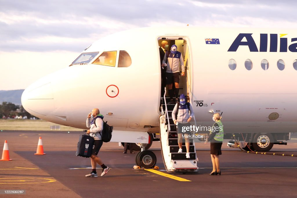 New Zealand Warriors Travel to Australia For Quarantine Ahead of 2020 NRL Season Recommencement : News Photo