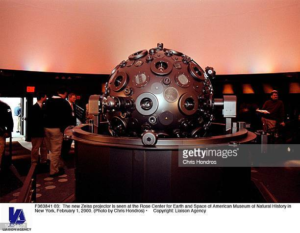 The new Zeiss projector is seen at the Rose Center for Earth and Space of American Museum of Natural History in New York February 1 2000