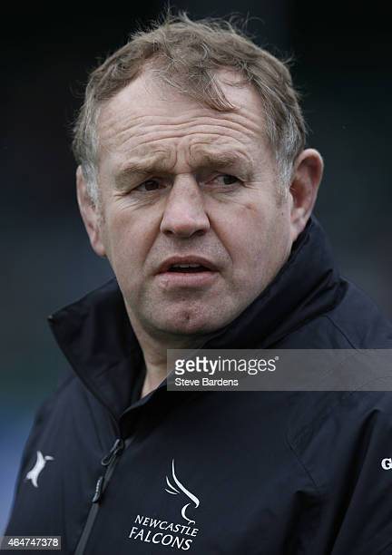 The Newcastle Falcons director of rugby Dean Richards prior to the Aviva Premiership match between Saracens and Newcastle Falcons at Allianz Park on...