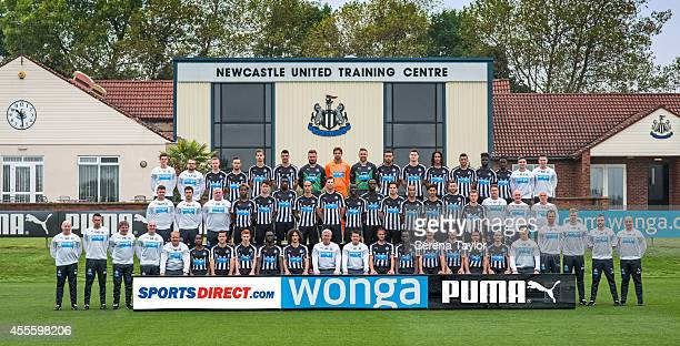 The Newcastle United Team pose for the annual team photo Back row Tom Coffield Lee Fraser Shane Ferguson Adam Armstrong Lubo Satka Haris Vuckic Jak...
