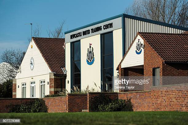 The Newcastle United Training Building during the Newcastle United Training session at The Newcastle United Training Centre on January 28 in...