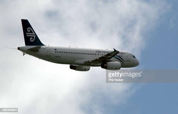 The newest addition to Air New Zealand's fleet of aircraft the Airbus A320 flys into Auckland after flying from France