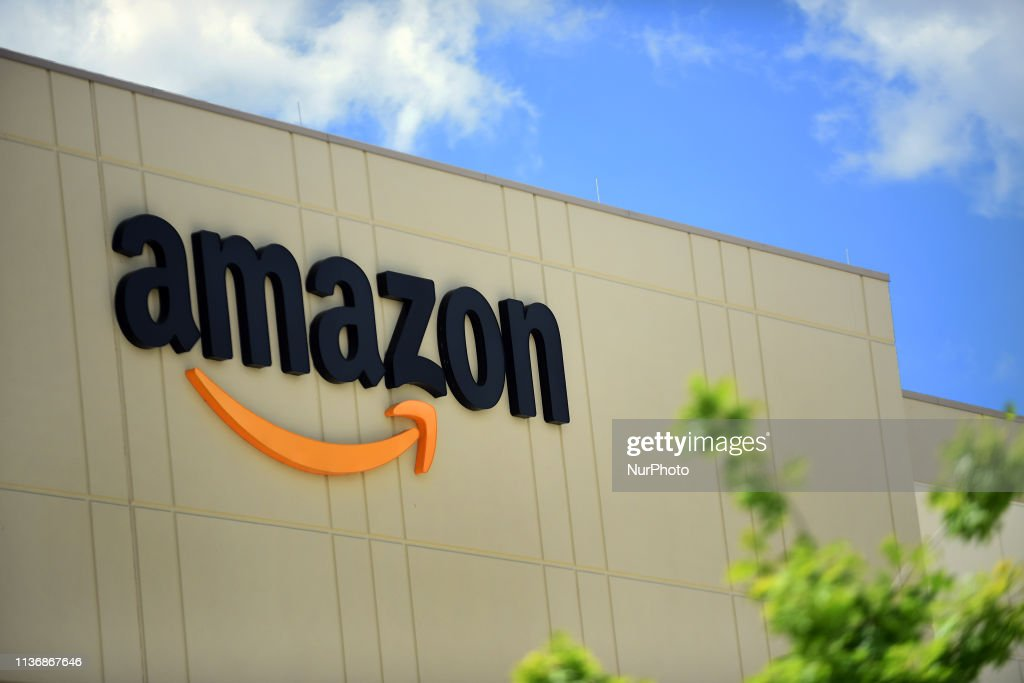 The newest Amazon Robotics fulfillment center is seen during