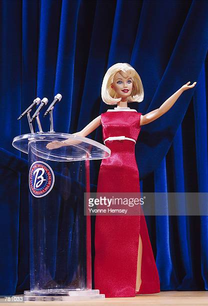 The newest Barbie doll breaks ground as one of the first women to run for president of the United States President 2000 Barbie hits the campaign...