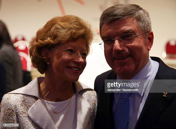 The newly announced ninth IOC President Thomas Bach with his wife Claudia during the 125th IOC Session IOC Presidential Election at the Hilton Hotel...