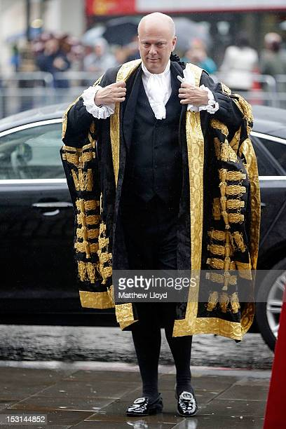 The newly appointed Lord Chancellor Chris Grayling arrives at Westminster Abbey to meet the congregation of judges for The Annual Service of...
