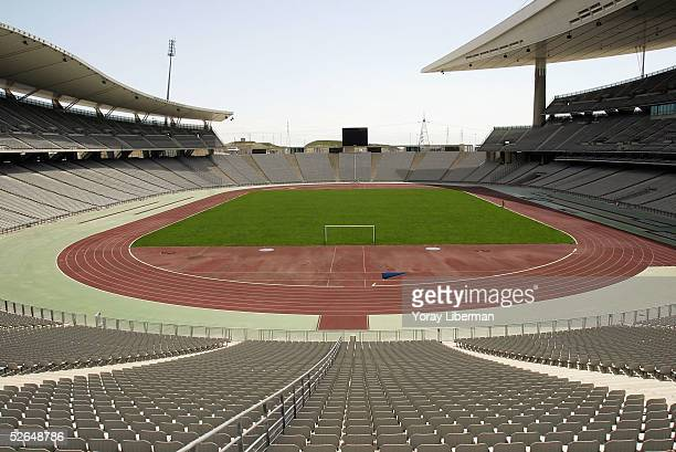 The newly constructed Ataturk Olympic Stadium is pictured on April 19 2005 in Istanbul Turkey The stadium will play host to the 2005 UEFA Champions...