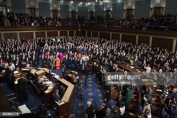 The newly elected Representatives take their oath during the swearing in of the House of Representatives and the 115th US Congress at the US Capitol...