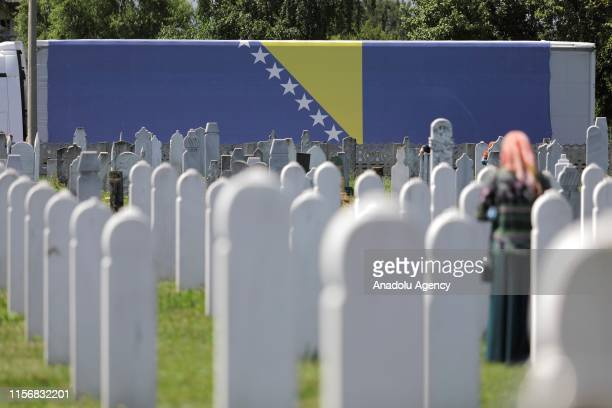 The newly identified 86 victims of the Prijedor massacre are buried in their village cemeteries after a collective funeral ceremony held at Vedro...