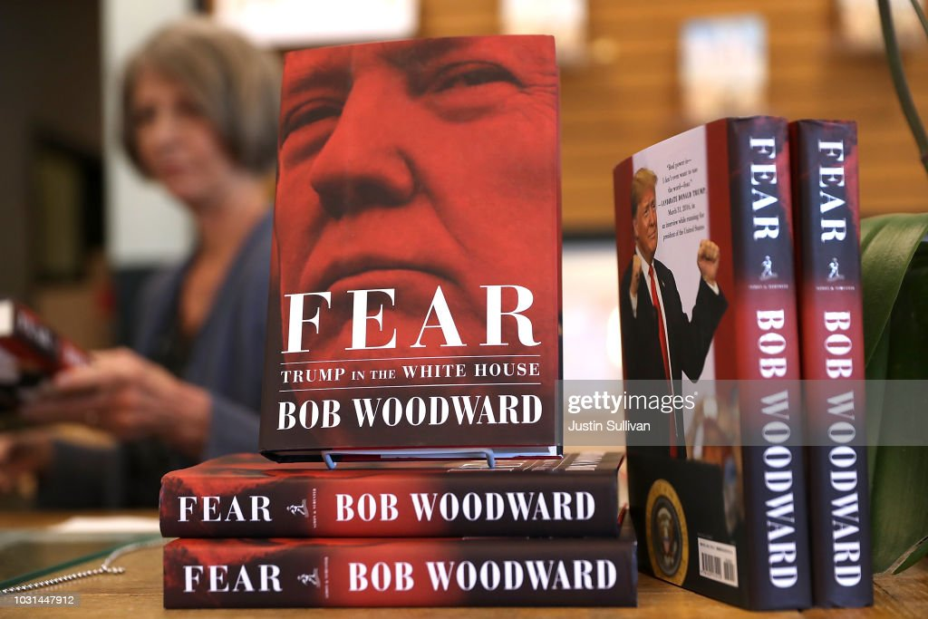 """Bob Woodward's Book """"Fear"""" On Trump Administration Hits Store Shelves : News Photo"""