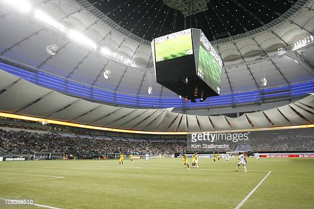 The newly renovated BC Place opens the roof for the Vancovuer Whitecaps FC game against Real Salt Lake at the Bell Pitch at BC Place October 6, 2011...