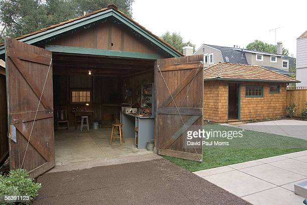 The newly renovated HP garage and shed , where Dave Packard stayed, on Addison Avenue are seen December 8, 2005 in Palo Alto, California. In 1939...