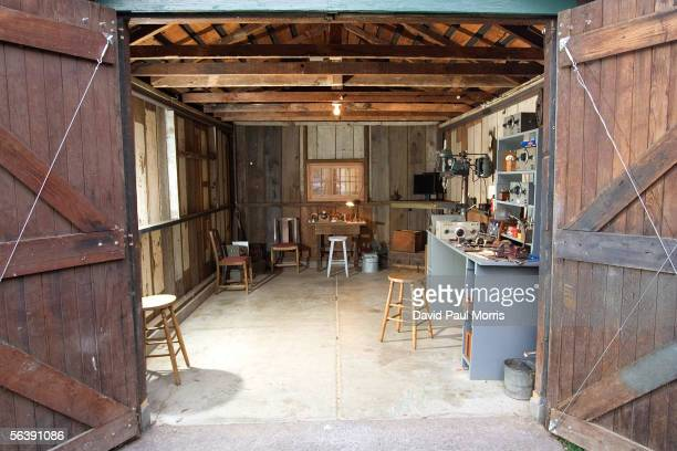 The newly renovated HP garage on Addison Avenue is seen December 8, 2005 in Palo Alto, California. In 1939 Bill Hewlett and Dave Packard started...