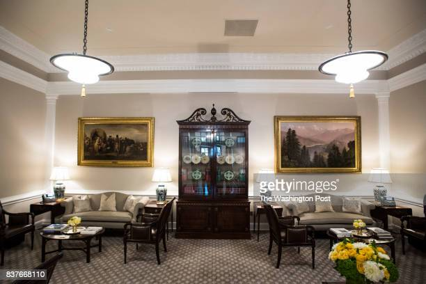 The newly renovated West Wing Lobby is seen at the White House in Washington DC on Tuesday Aug 22 2017